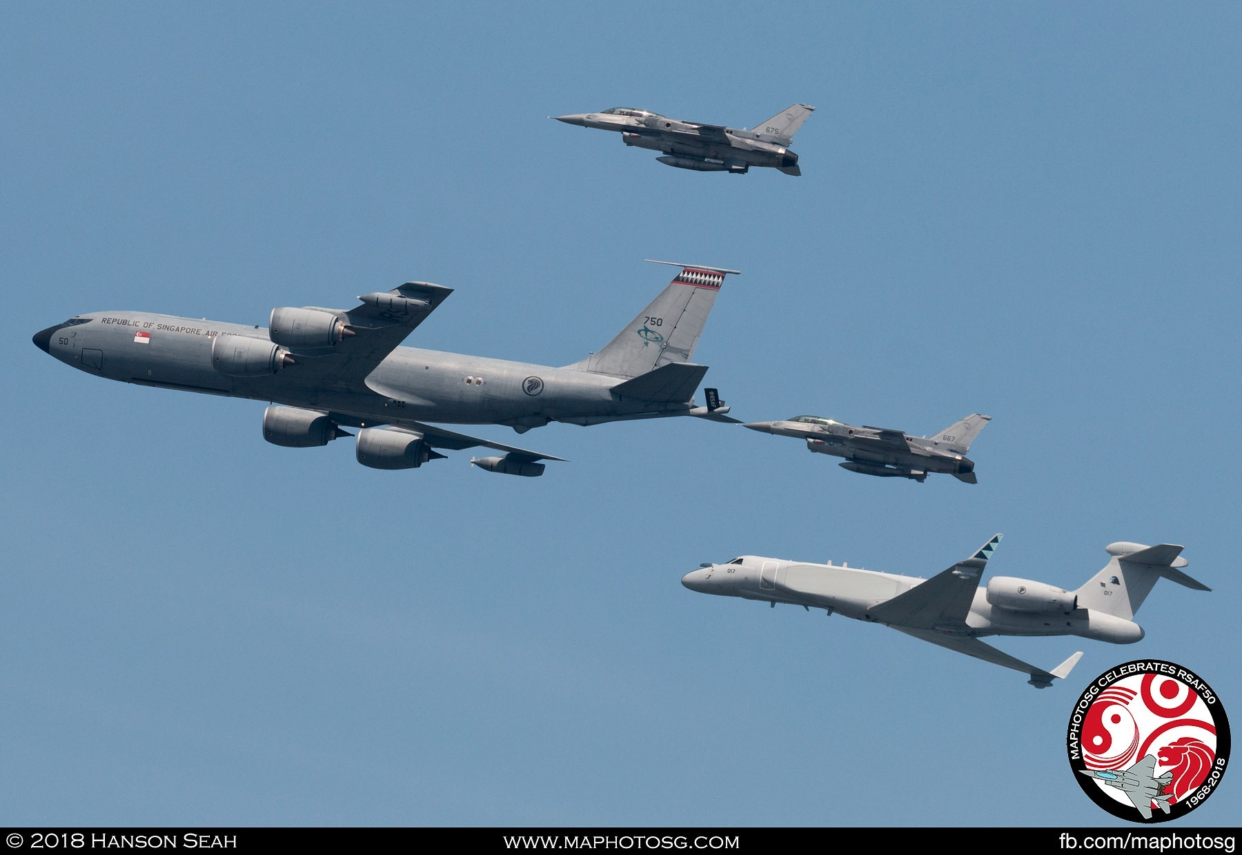 KC-135R Formation with 2 F-16s and G550