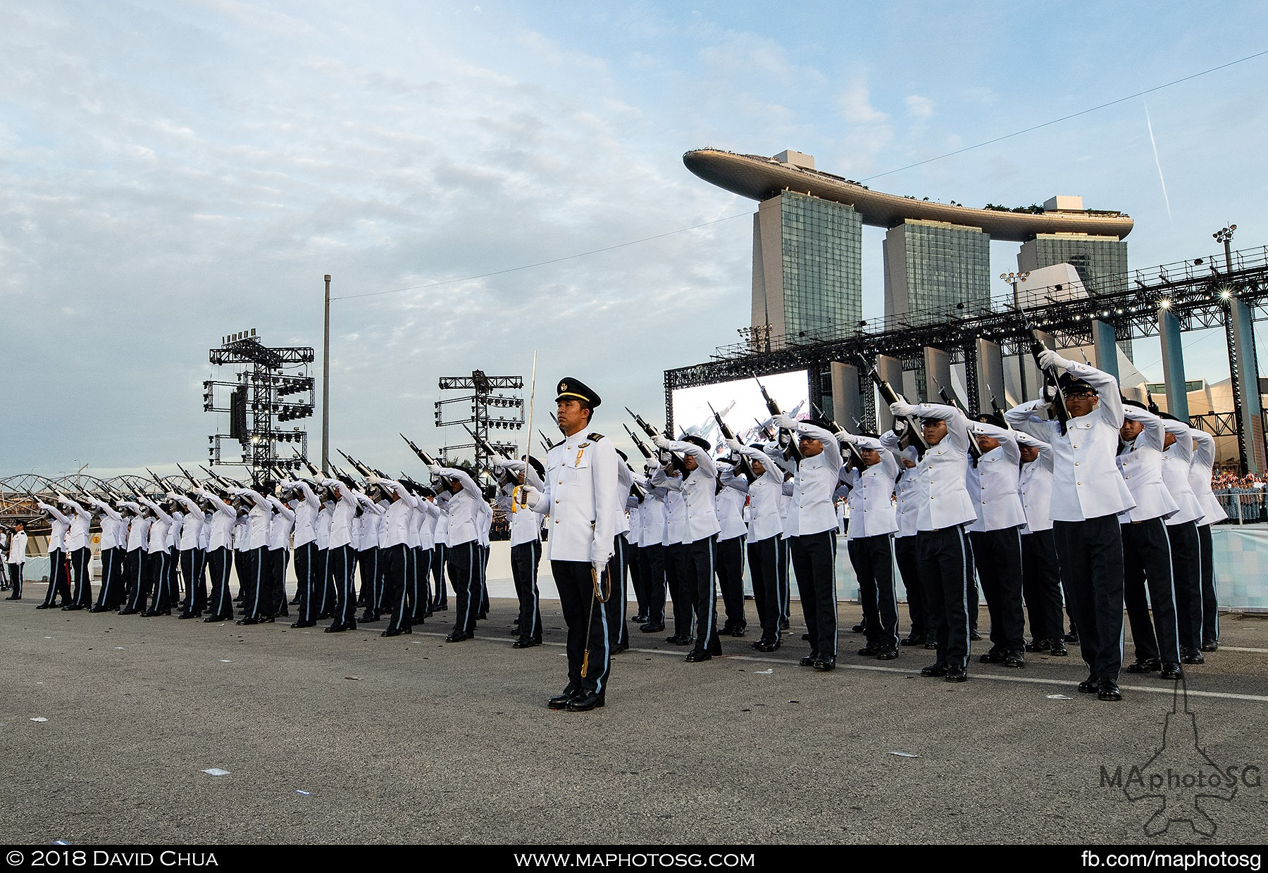 "23. RSAF Guard of Honour performs the ""feu-de-joie"""