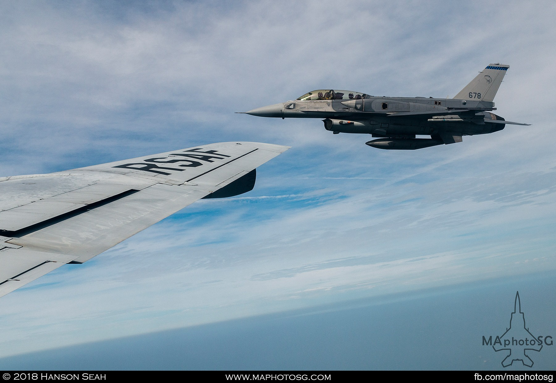 F-16D+ Viper as seen from the KC-135R Stratotanker