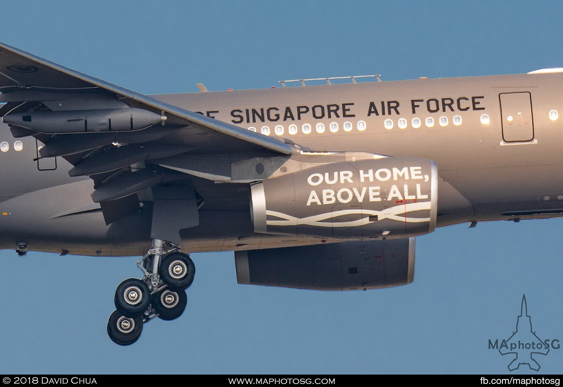 "RSAF50 Tagline ""Our Home, Above All"" - Republic of Singapore Air Force A330-MRTT (761)"