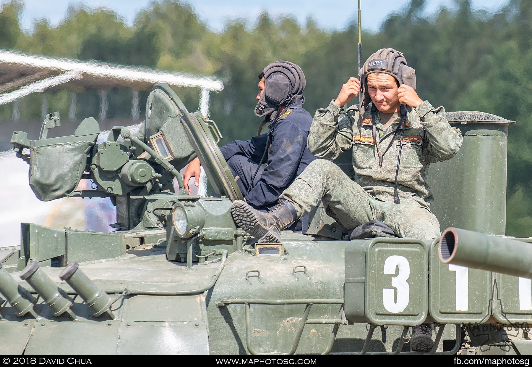 14. Tank crew of the T-80E1 MBT readying for the demonstration
