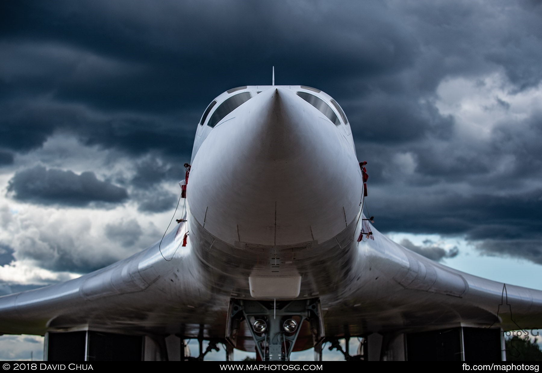 "19. Dark clouds above the Tu-160 ""White Swan"""