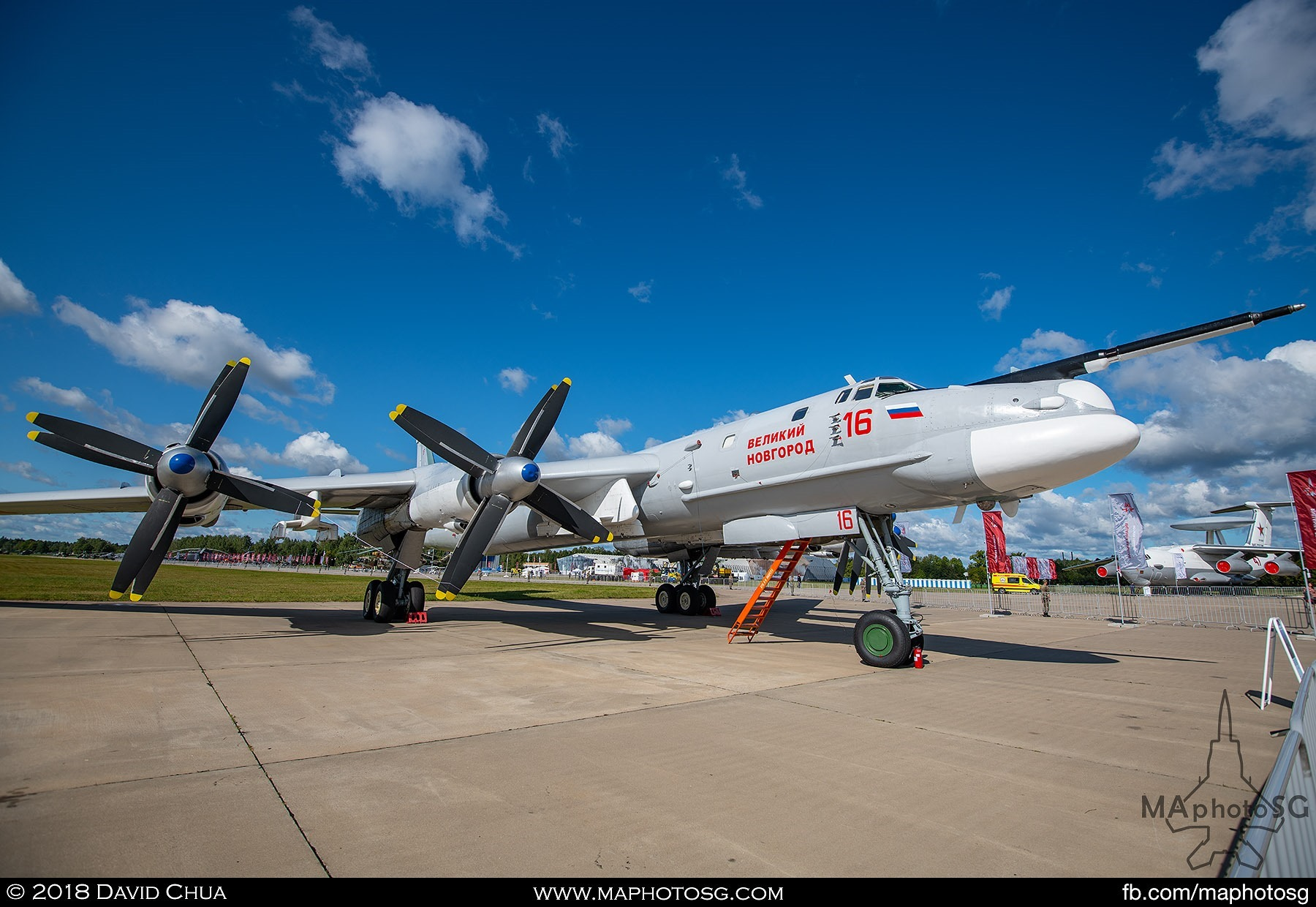 "21. Tupolev Tu-95mc strategic bomber is the latest version of the ""Bear"" that has been in service with the Russian Air Force since 1957"