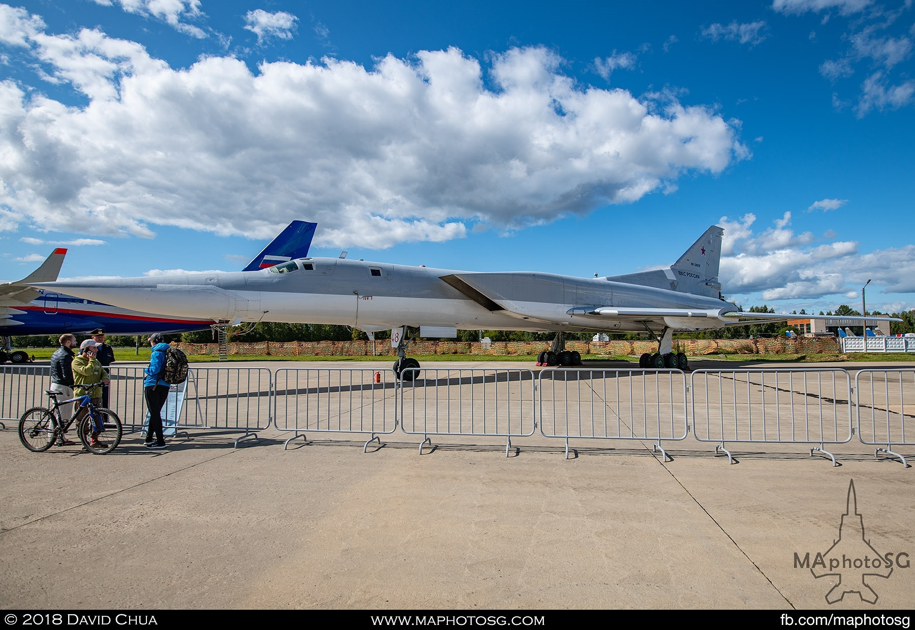 "22. Tupolev Tu-22m3 ""Backfire"" swing wing strategic bomber in its latest upgraded form"