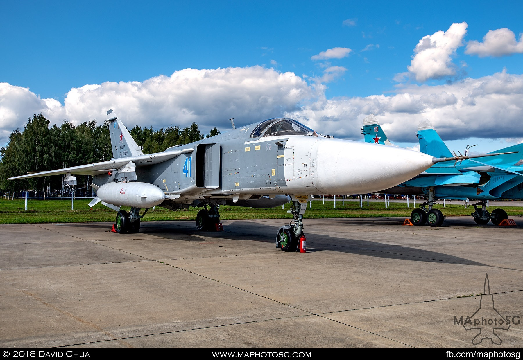 "28. Russian Air Force Sukhoi Su-24m ""Fencer"" all weather attack aircraft"