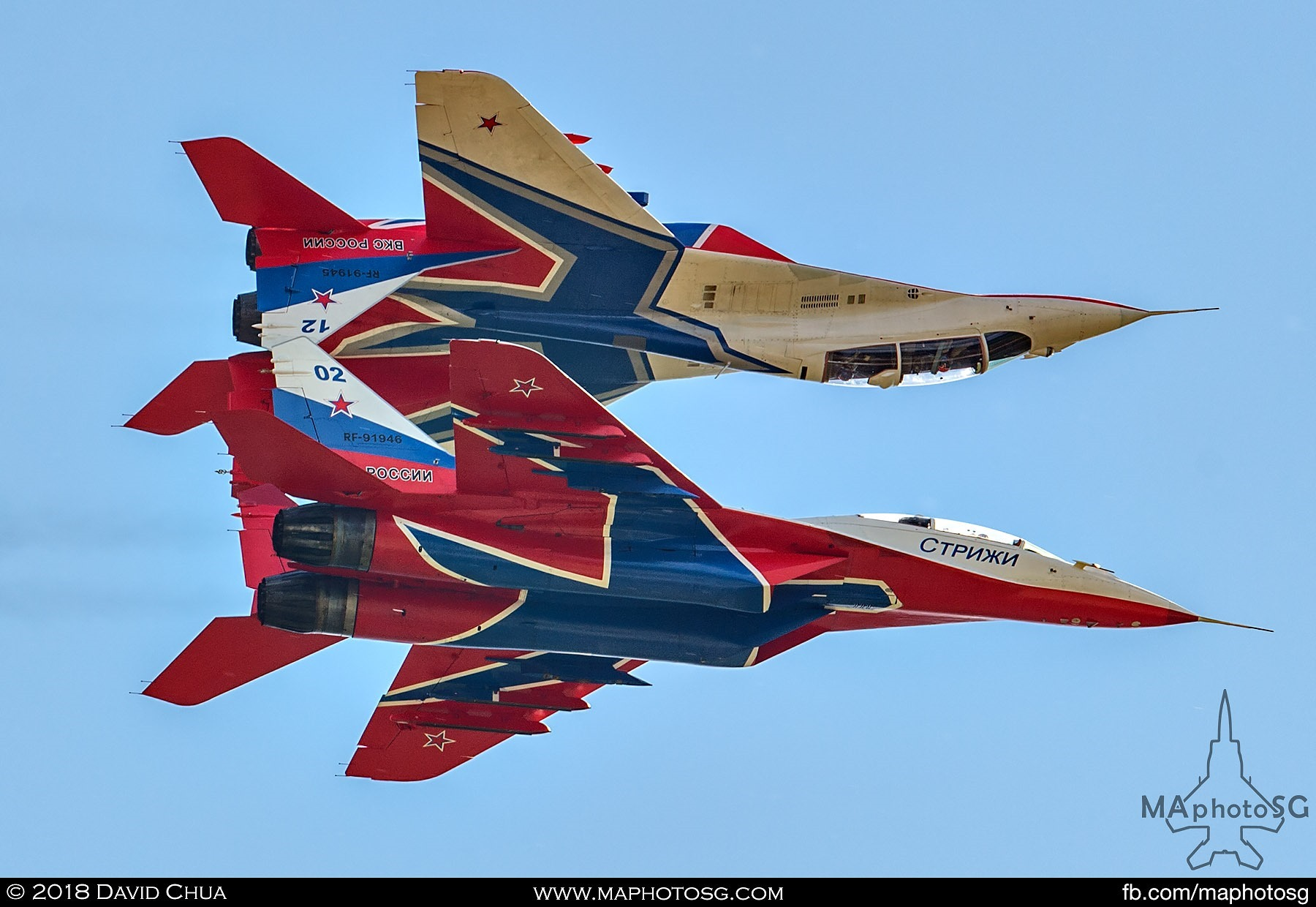 34. Mirror pass performed by the MiG-29s of the Swifts