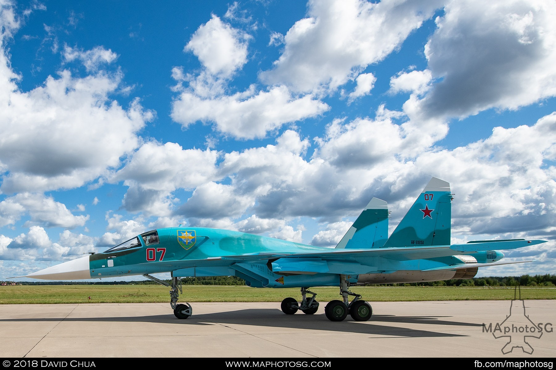 "39. Su-34 ""Fullback"" taxiing back to flight line after its performance"