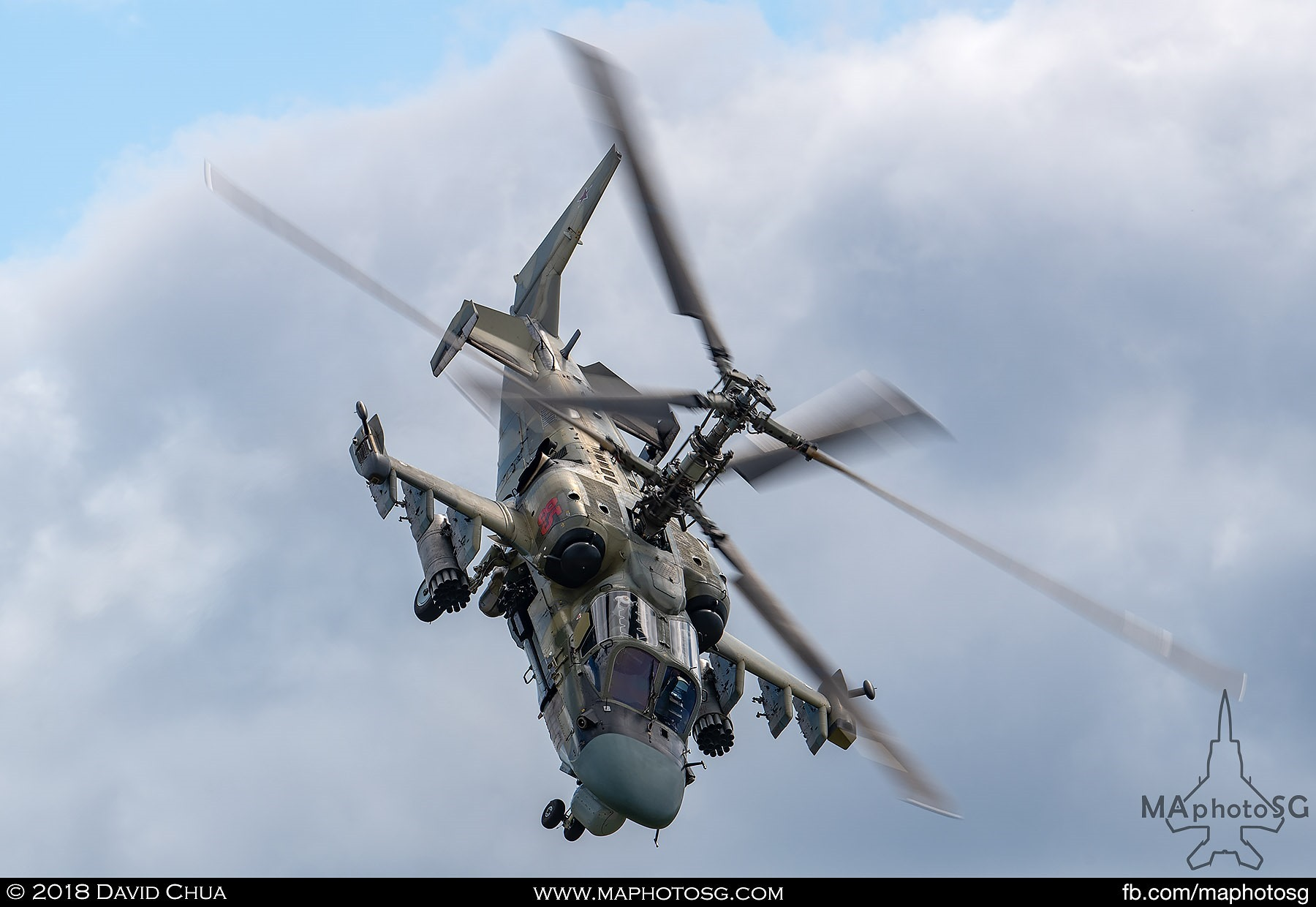 "48. Kamov Ka-52 ""Alligator"" performing one of the most amazing helicopter displays ever."