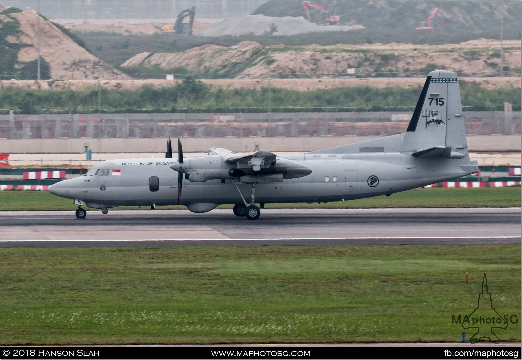 14. RSAF Fokker 50 MPA returning to Changi Air Base