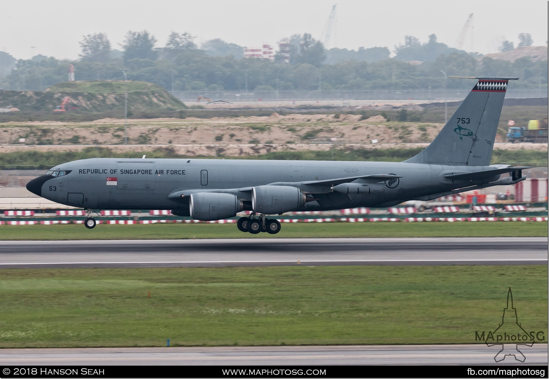 13. RSAF KC-135R Stratotanker returning to Changi Air Base
