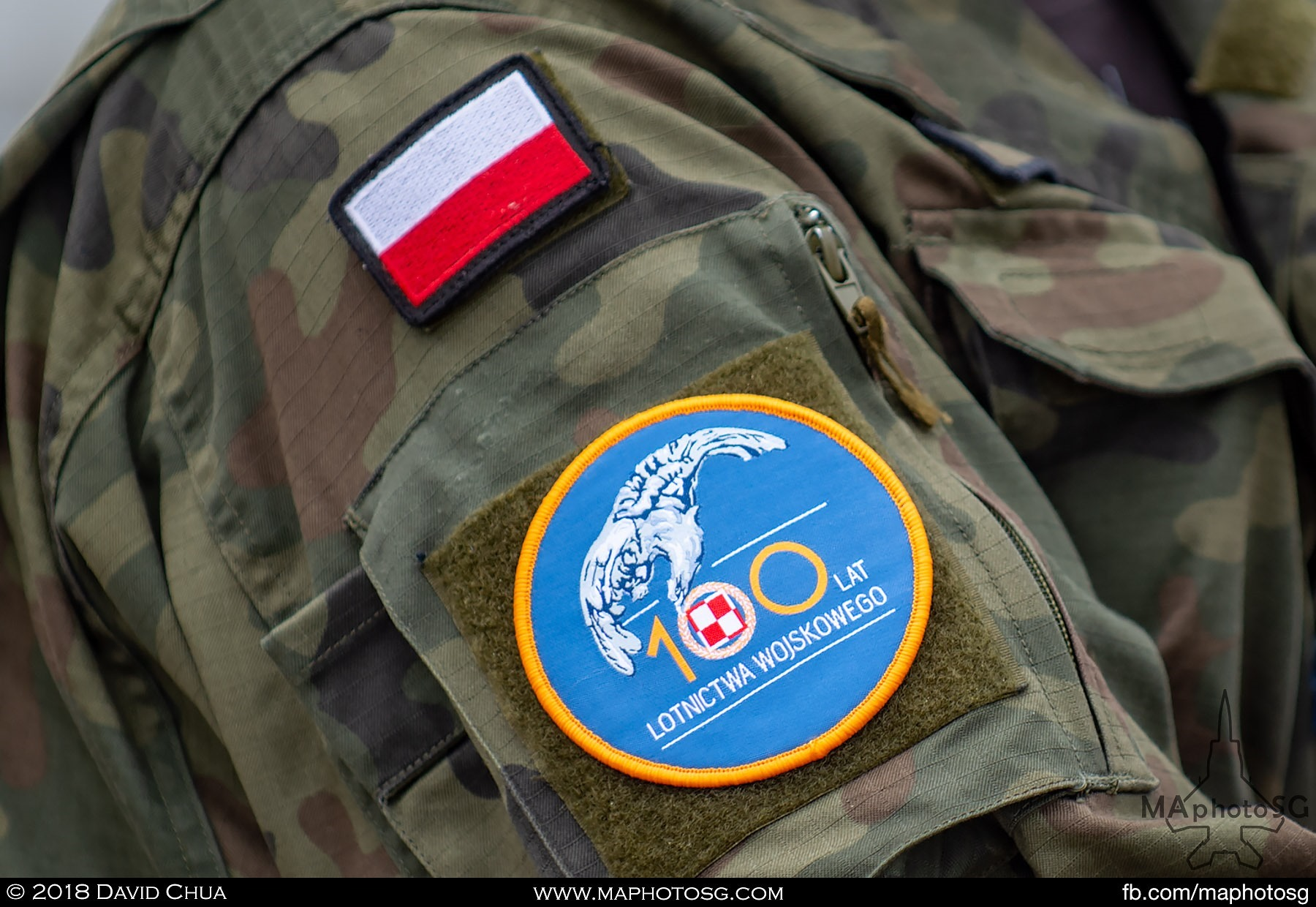 01. Polish Serviceman with the 100th Anniversary Patch celebrating the the occasion