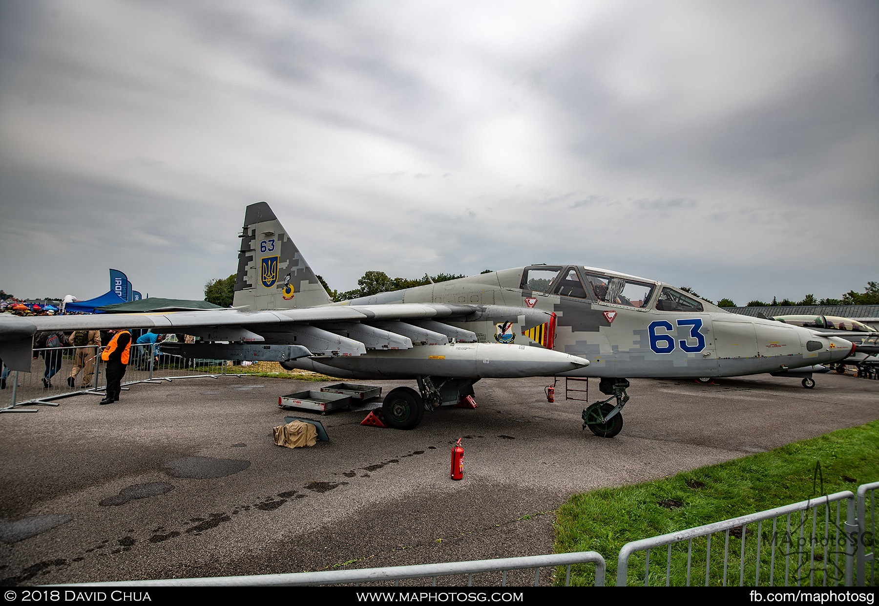 09. Side profile of the Ukranian Air Force Su-25 Frogfoot