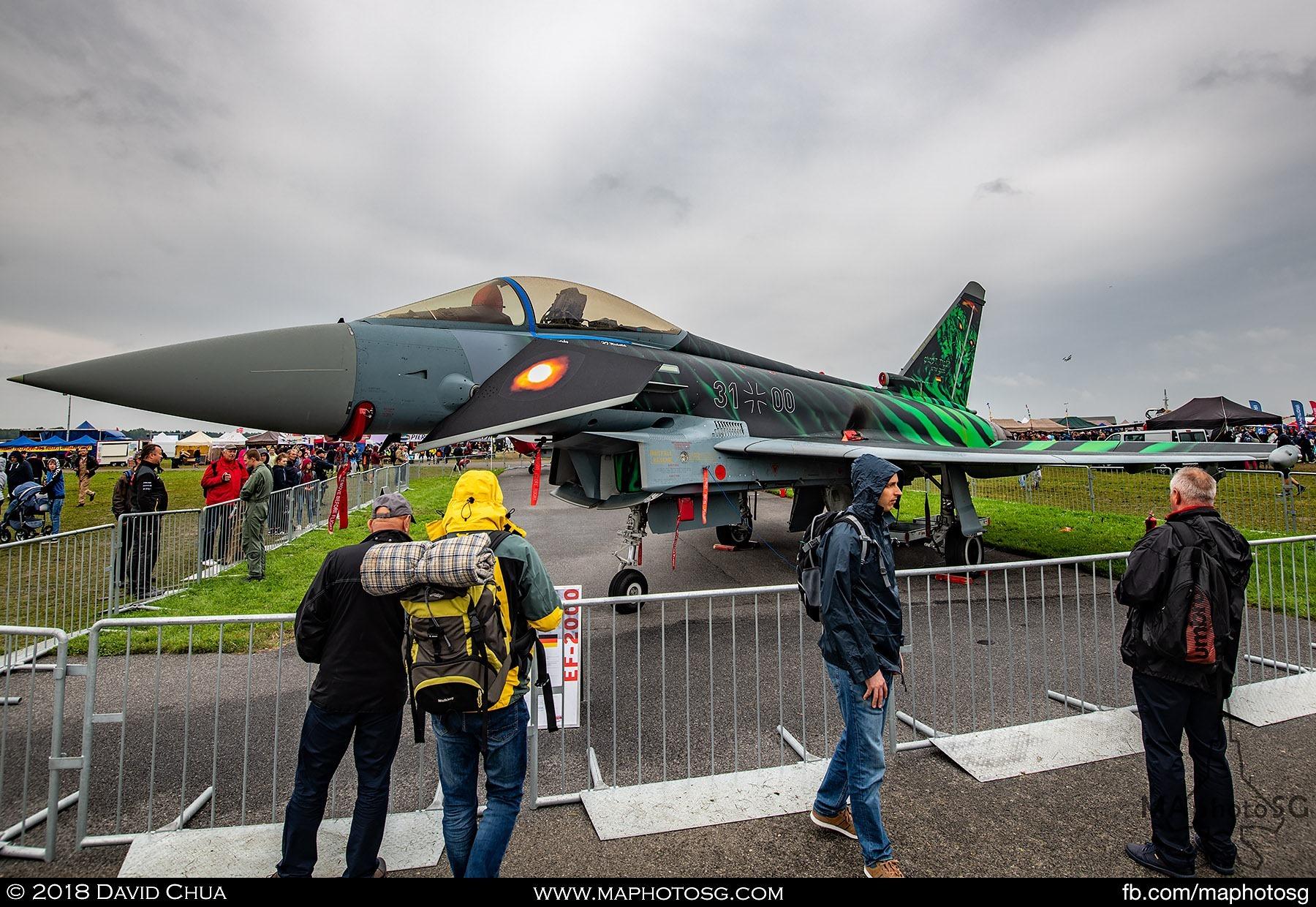 """12. Luftwaffe Eurofighter EF2000 31+00 """"Ghost Tiger"""""""