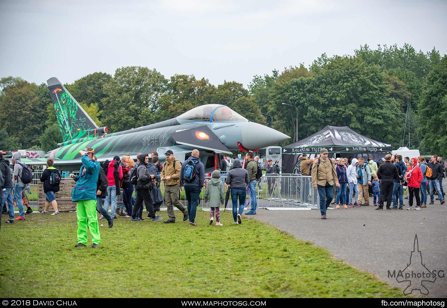 13. Crowds at the Ghost Tiger static display area checking out the aircraft and collectables in the tent
