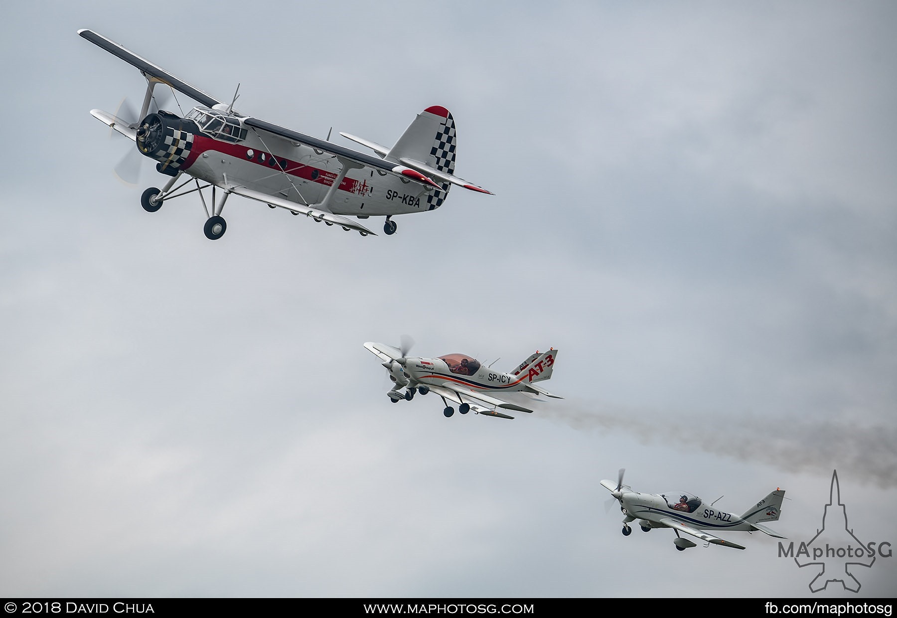 17. Fundacja Bialo Czerwone Skrzydla Antonov An-2 and AT-3s in formation