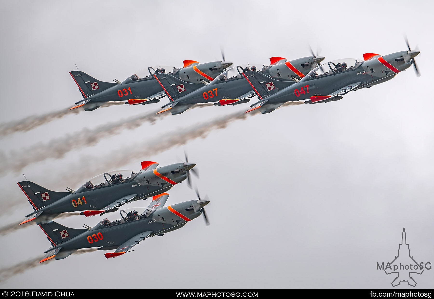 24. Polish Air Force Team Orlik PZL-130s