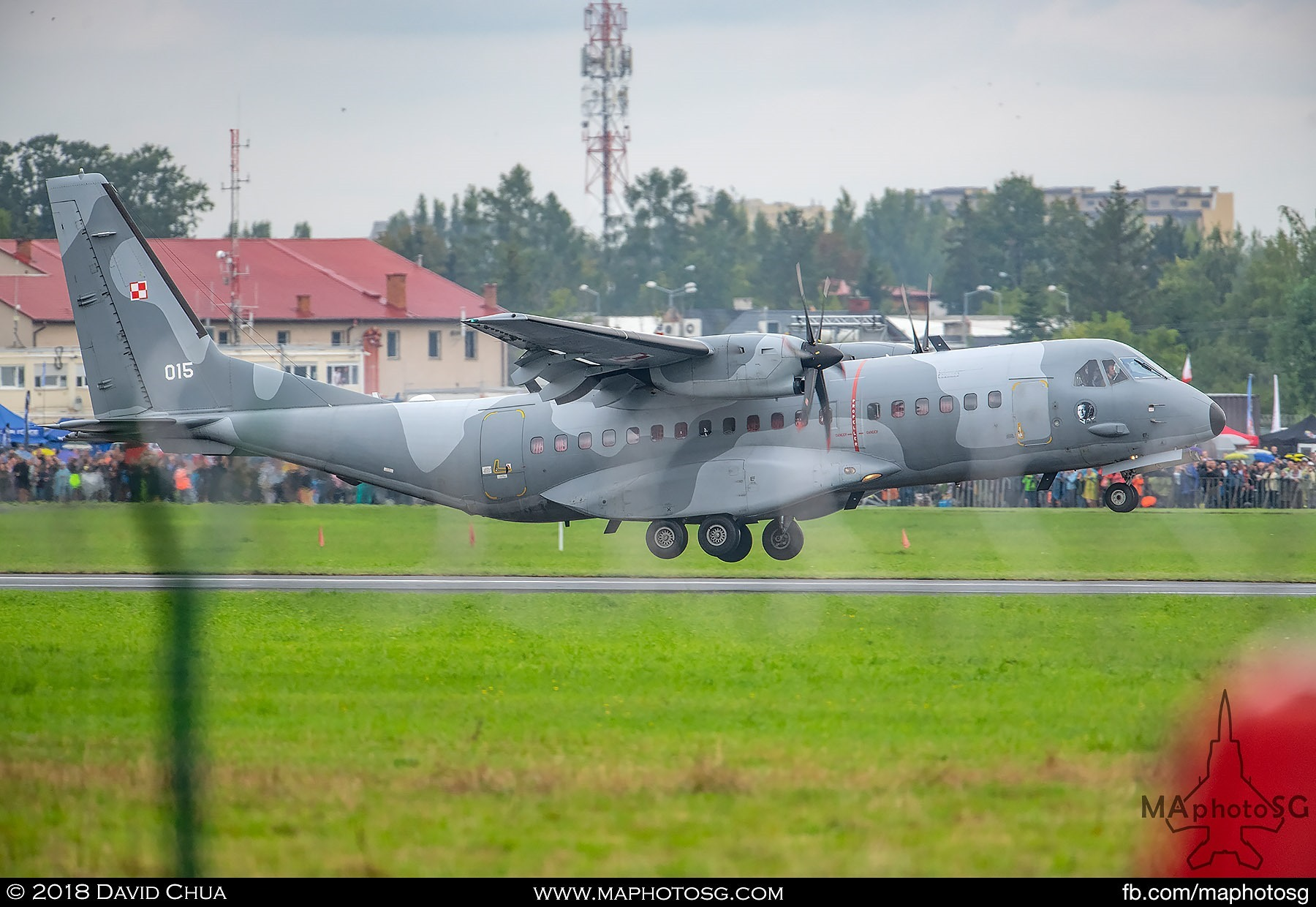 27. Polish Air Force Casa C295M takes off in front of the packed crowd