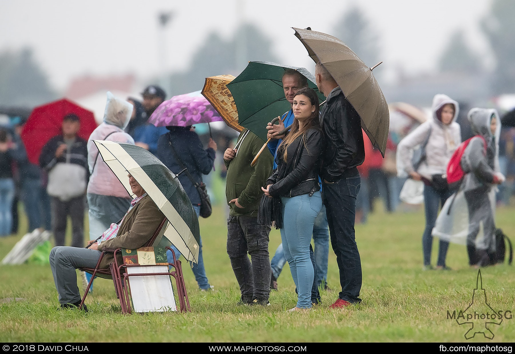28. Many people attended the airshow over the weekend despite the bad weather