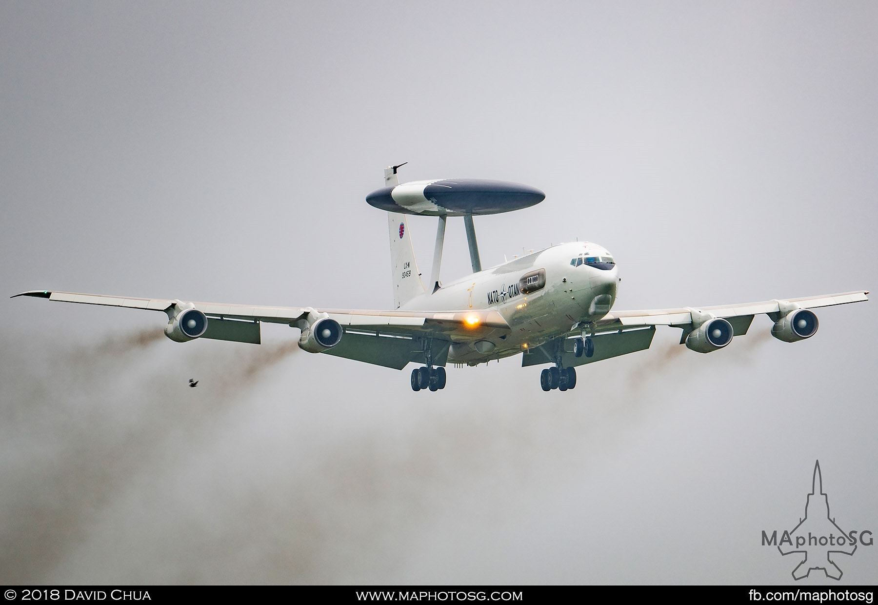 29. NATO E-3A Sentry AWACS did a flypast over the runway