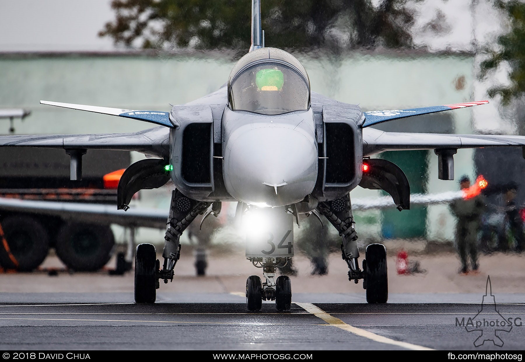 30. Czech Air Force Jas-39C Gripen taxis to the runway for its display segment