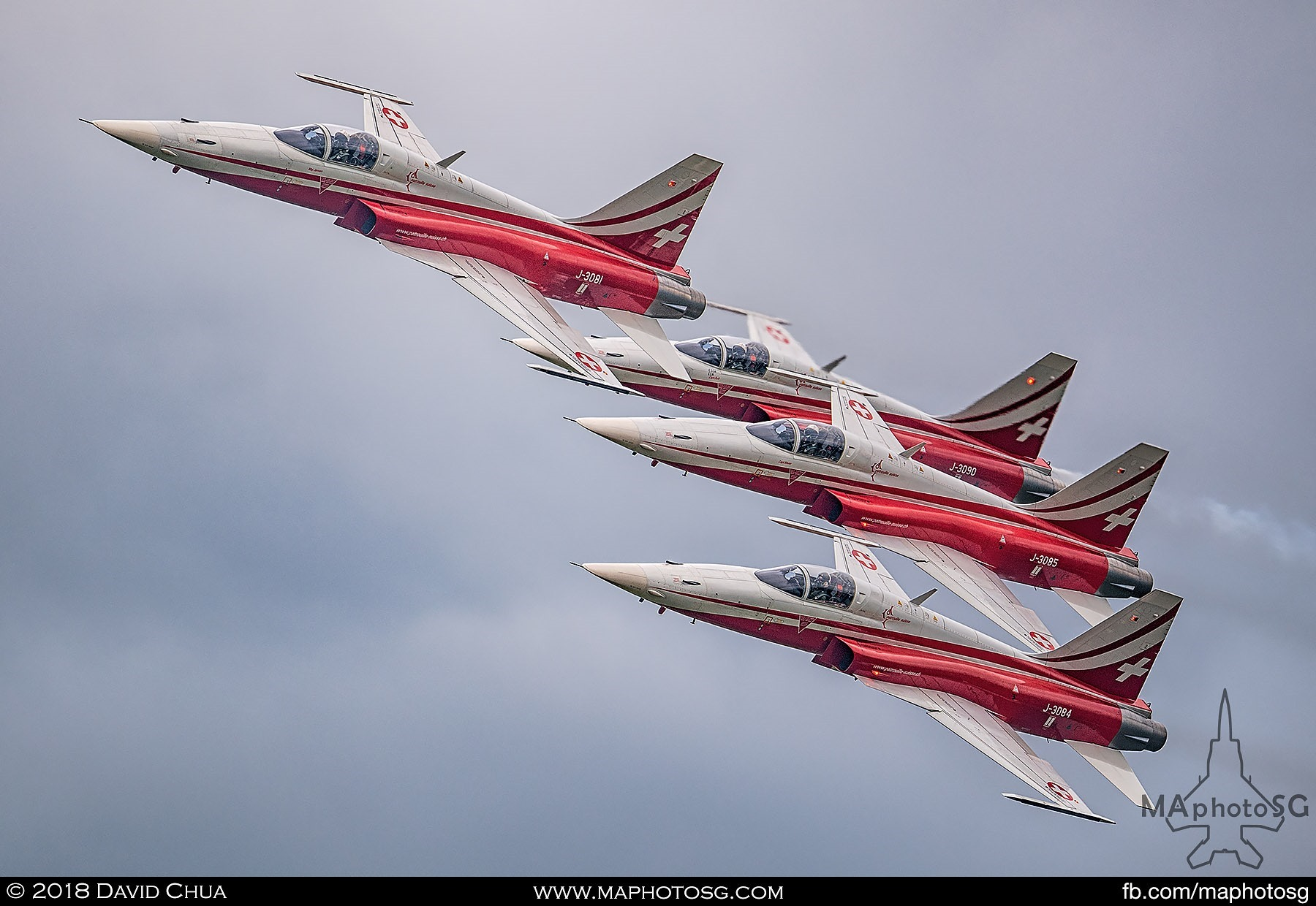 33. F-5E Tiger IIs of the Swiss Air Force Patrouille Suisse Team