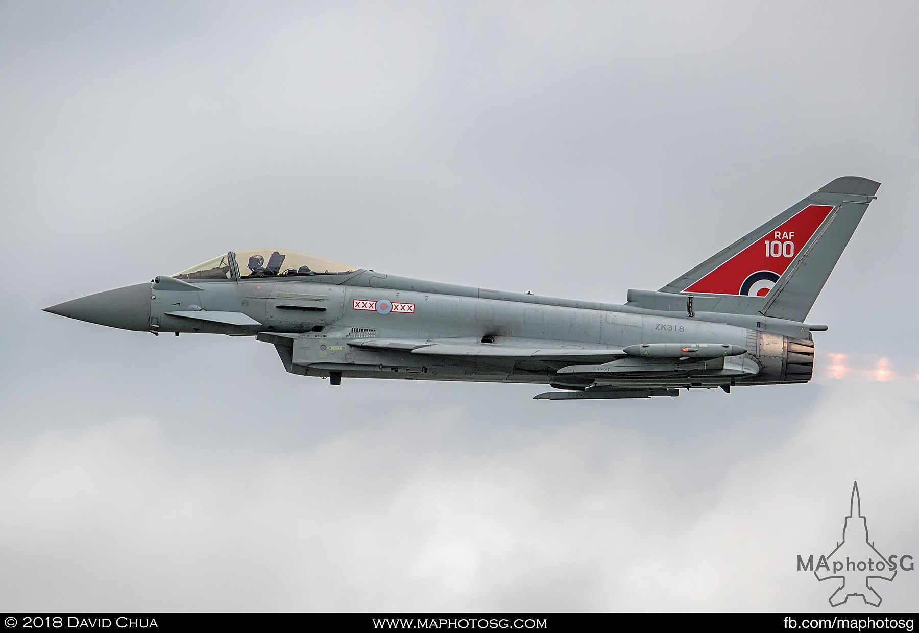 34. Royal Air Force Eurofighter Typhoon FGR4 with 100 Years of RAF tailflash