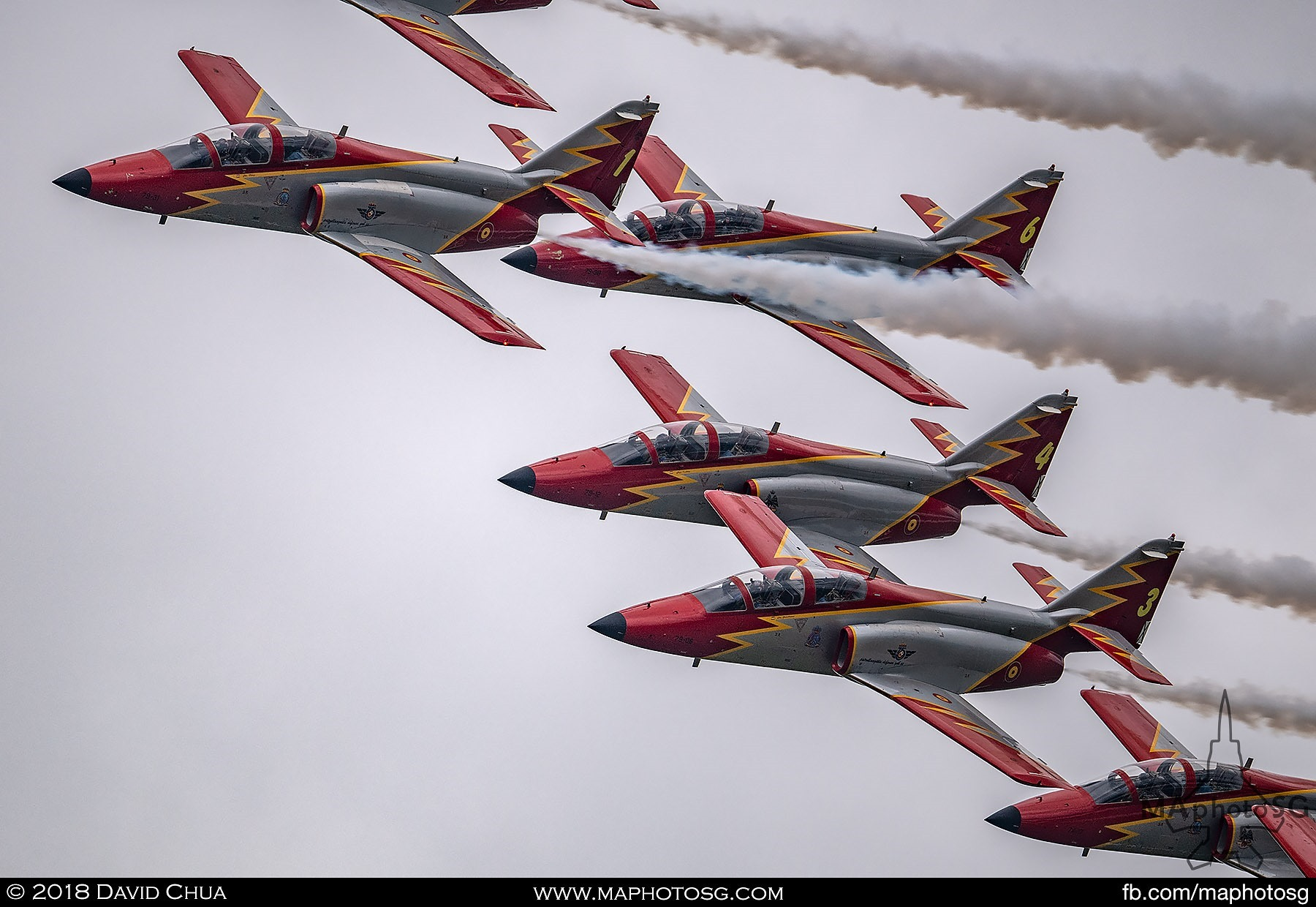 37. Casa C-101 Aviojets of the Spanish Air Force Patrulla Águila Team