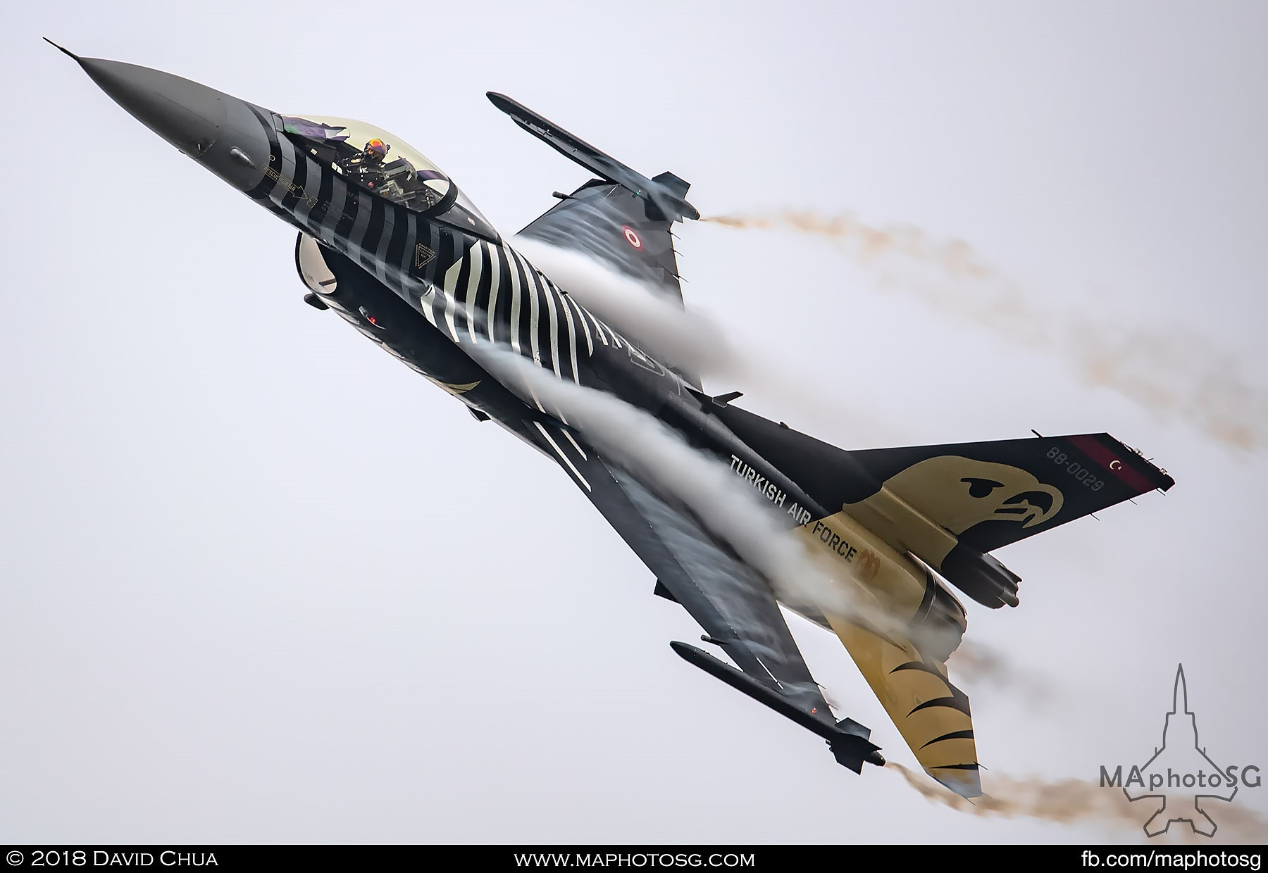 42. F-16C Block 40 Fighting Falcon of the Turkish Air Force Solo Turk display team