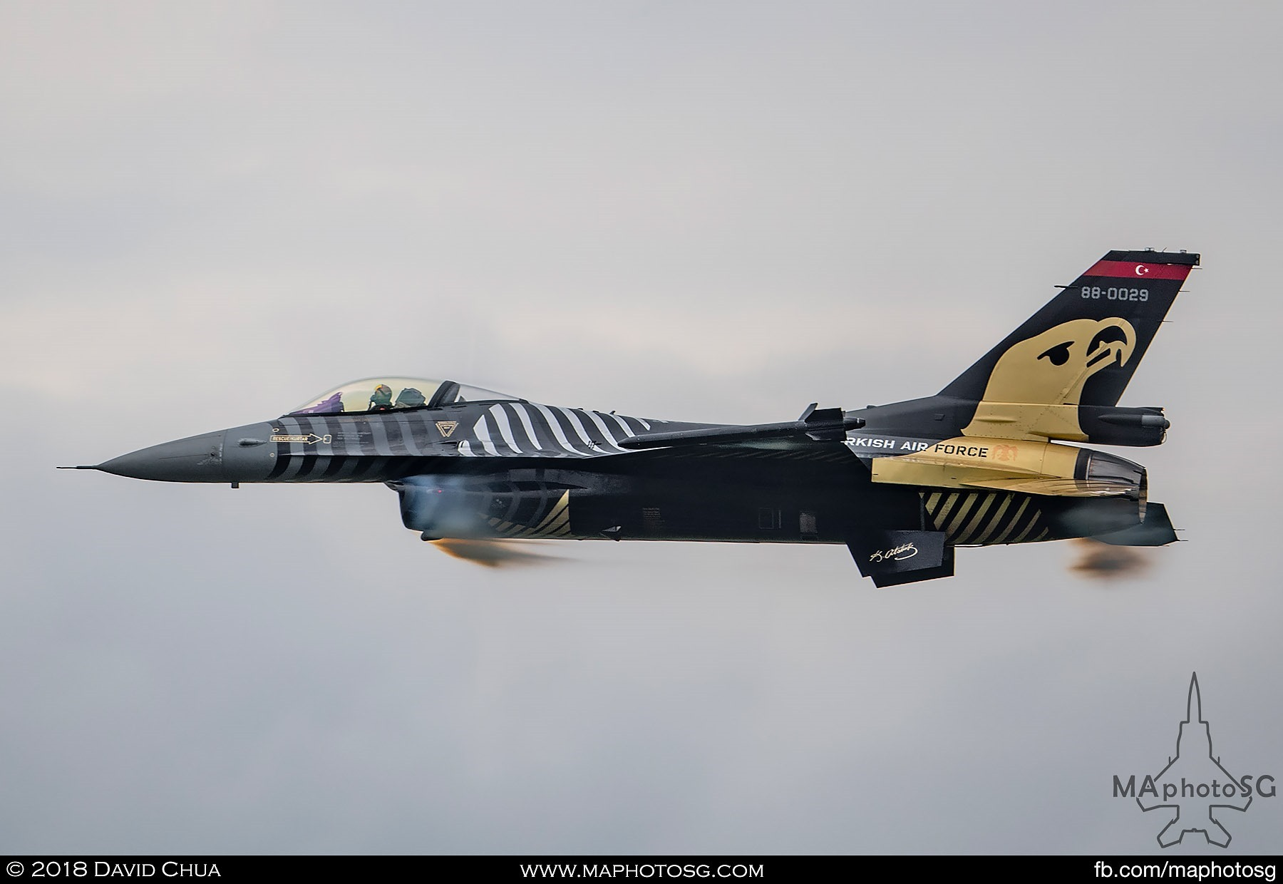 43. Turkish Air Force Solo Turk F-16C performing a high speed pass