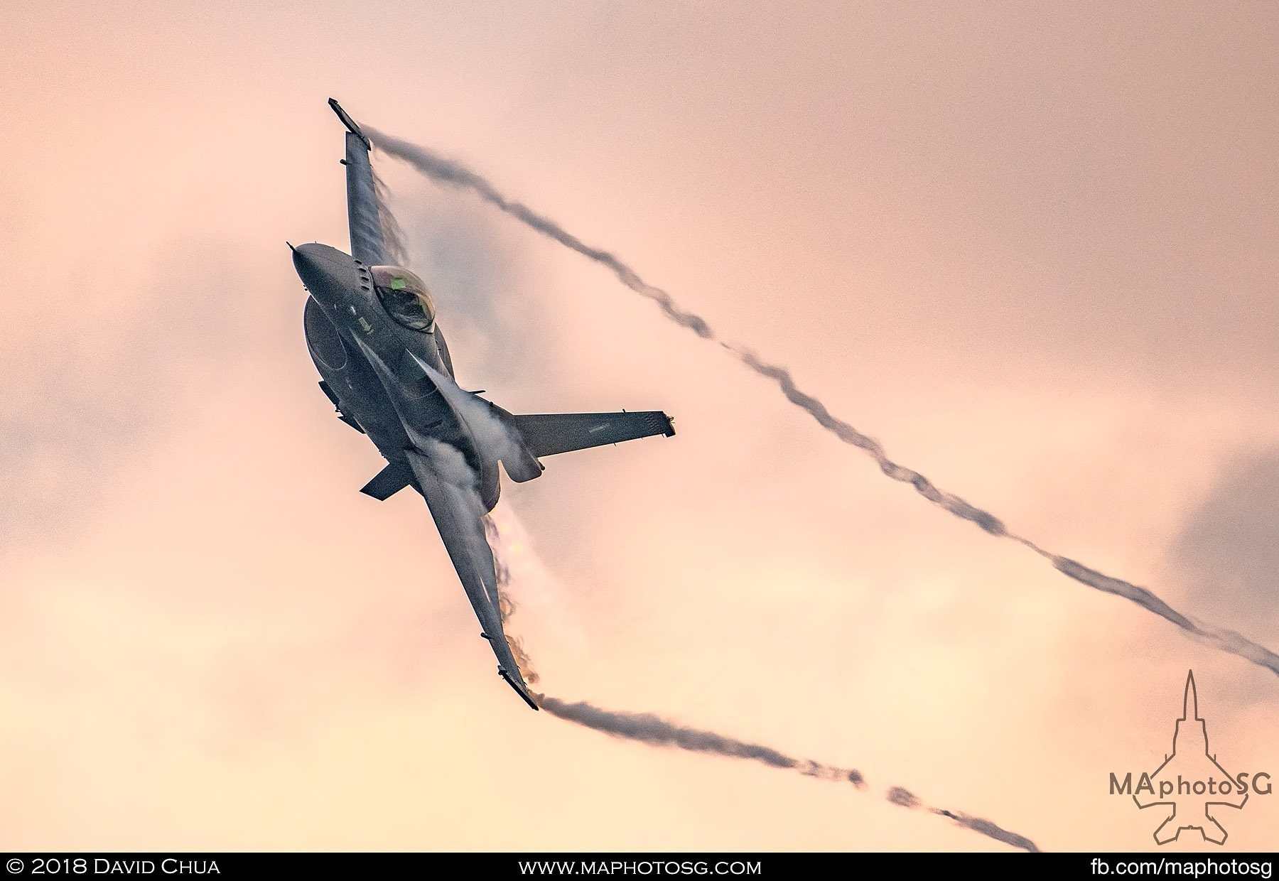 54. Hellenic Air Force Zeus F-16 pulls some Gs as the sun sets