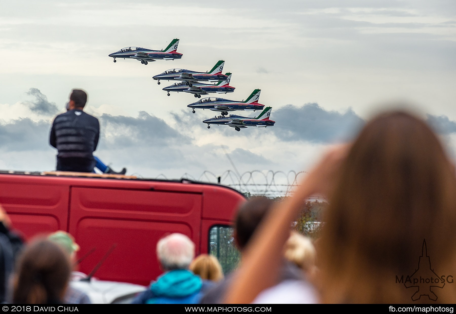 55. Italian Air Force Display Team Frecce Tricolori wows the crowd