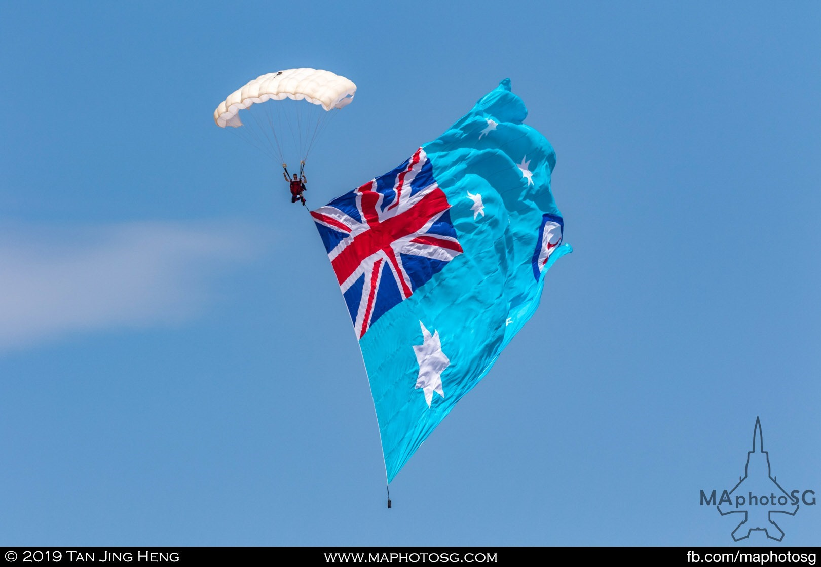 Parachute Display with RAAF Ensign Flag