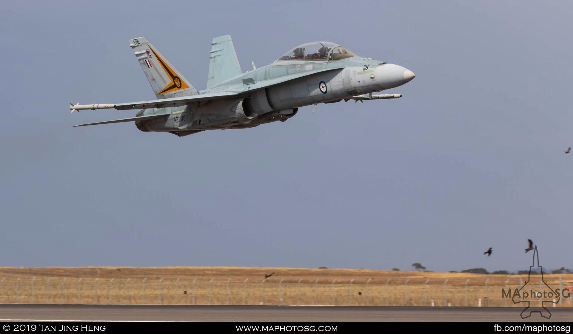 RAAF F-18B Hornet