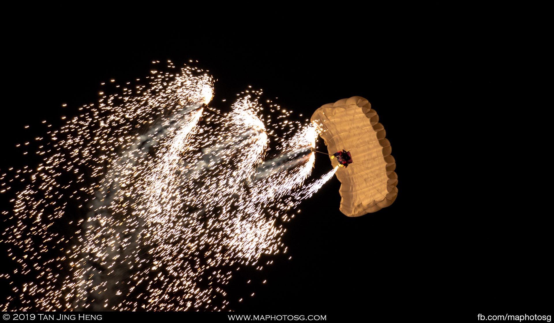 Parachute fireworks
