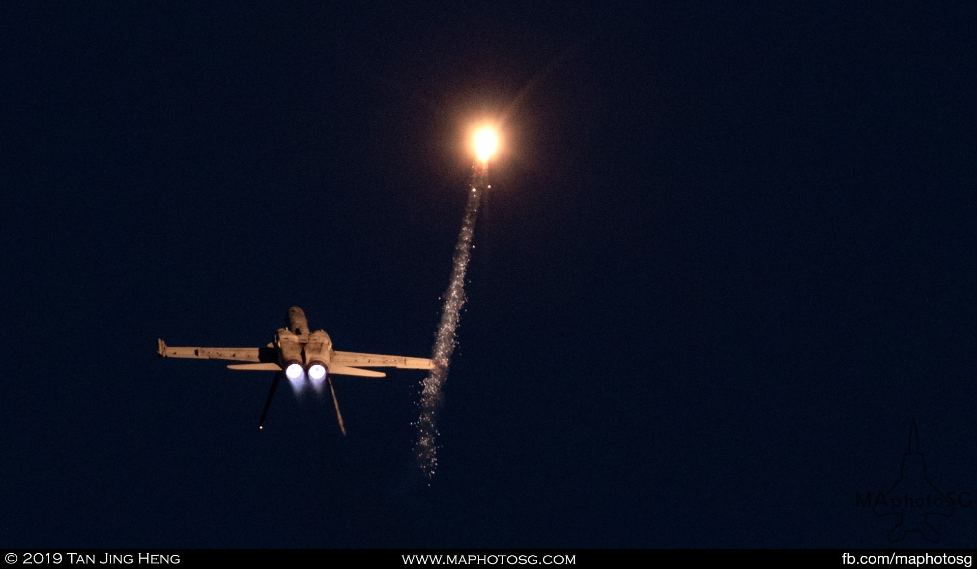 Flare Display by RAAF F/A-18 Hornet
