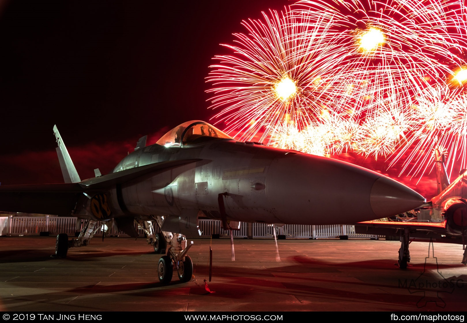 Finale Fireworks with RAAF F/A-18 Hornet