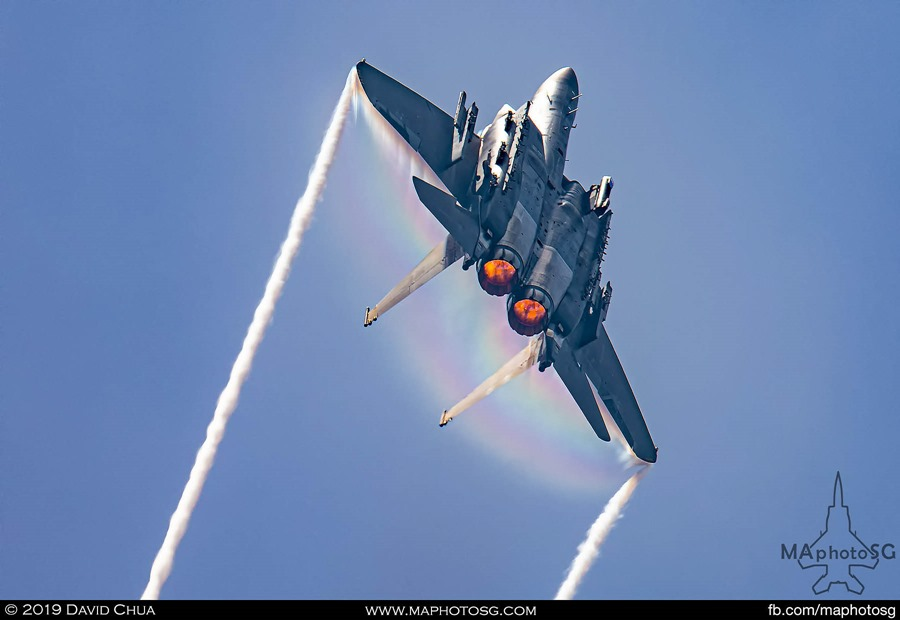 F-15SG Vertical Climb with afterburners