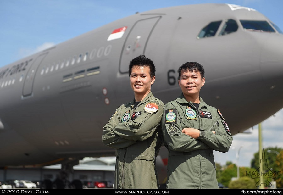 CPT Teo Yi Quan and SSG Chan Chee Jie will be flying the A330-MRTT over the parade.